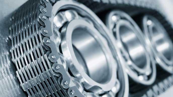 金属製のタイミングチェーン