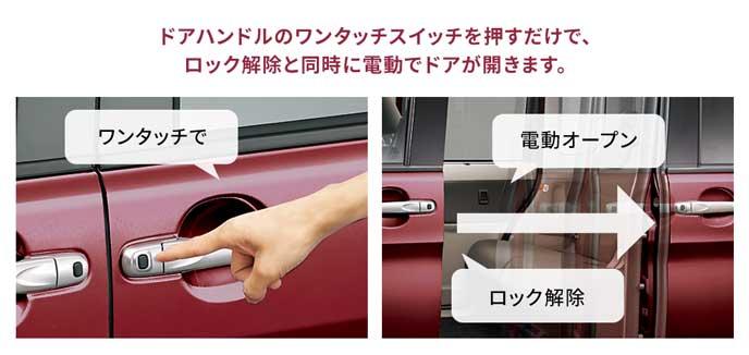 軽自動車の電動スライドドア