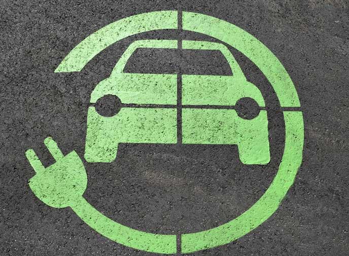 車とバッテリーのマーク