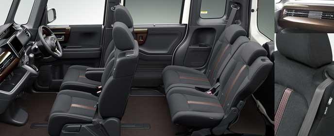ブラック・トリコットシートの新型N-BOX
