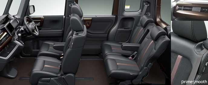 ブラック・プライムスムース・トリコットコンビシートの新型N-BOX