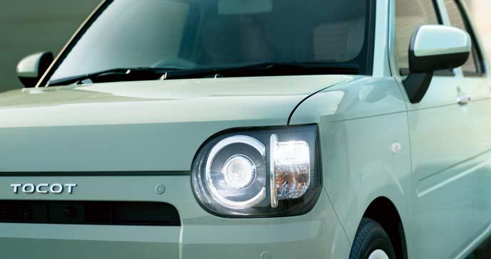 安全な軽自動車ミラトコットのエクステリア