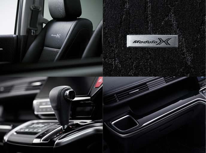 新型ステップワゴン モデューロXの専用インテリア装備