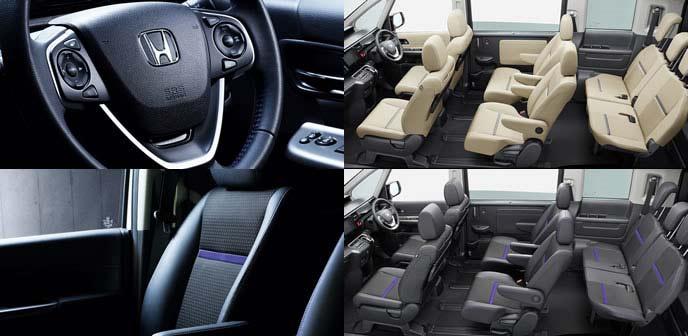新型ステップワゴン特別仕様車ブラックスタイルのインテリア装備