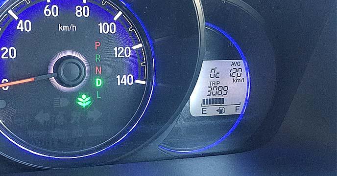 軽自動車のガソリンメーター