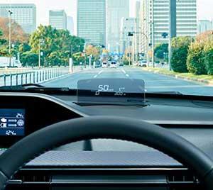 スズキ新型ワゴンRのヘッドアップディスプレイ
