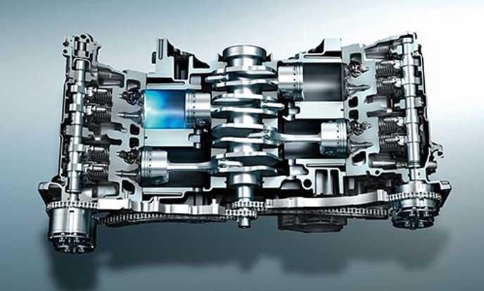 新型レヴォーグのエンジン