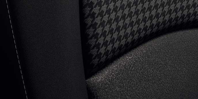 ブラックファブリックシートのカラー