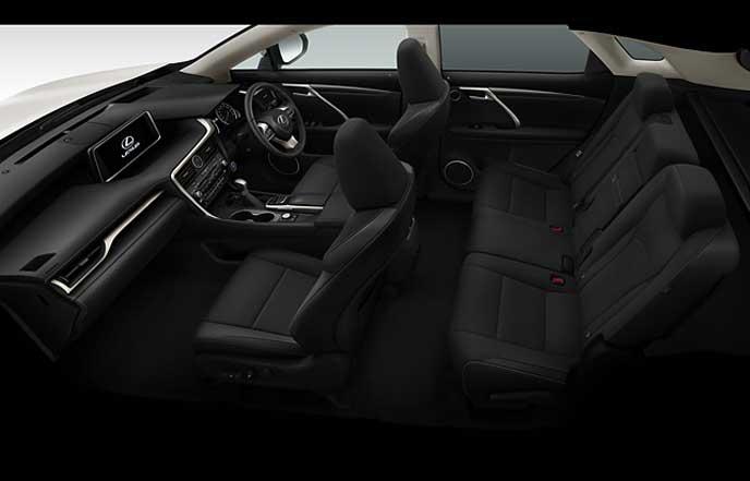 新型レクサスRXのブラックのファブリックシート