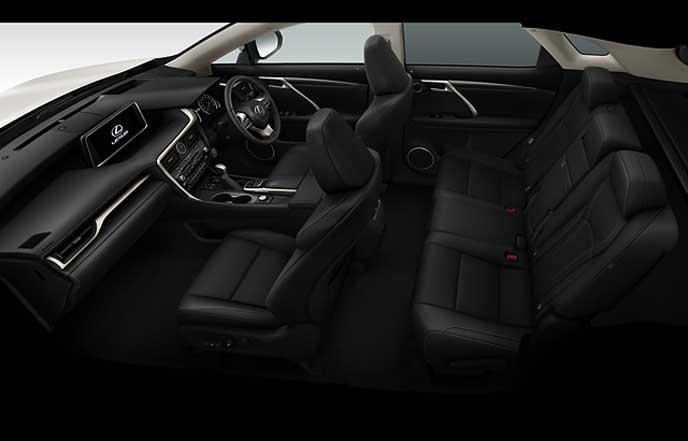 新型レクサスRXのブラックの本革シート