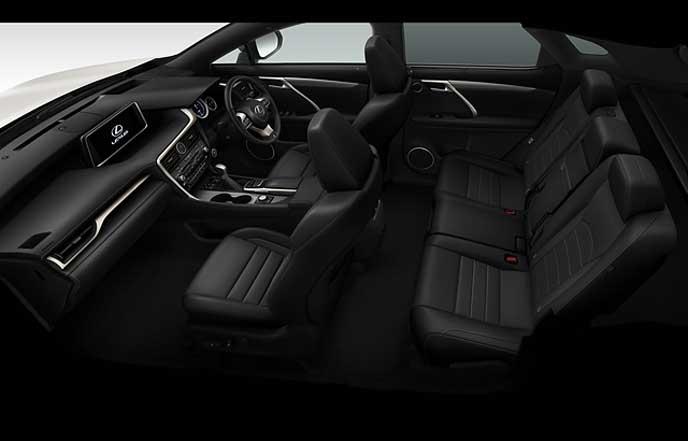 新型レクサスRXのF SPORT専用ブラックの本革シート