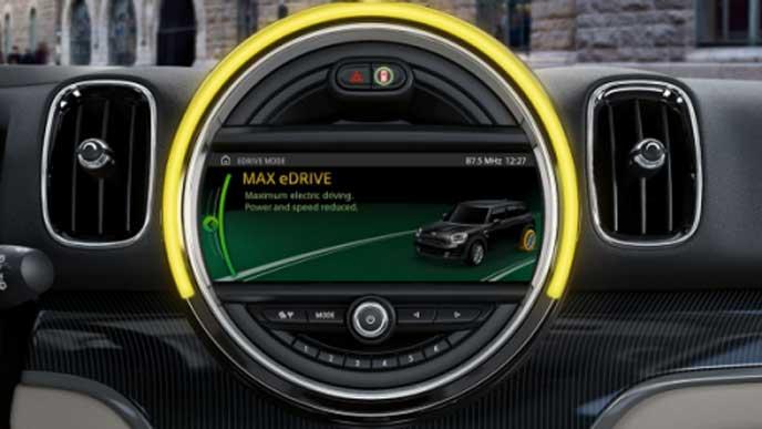 ミニ新型クーパーSEクロスオーバーのMAX eDriveモード