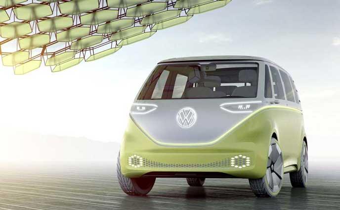 VWの新型EV車ID BUZZのエクステリア