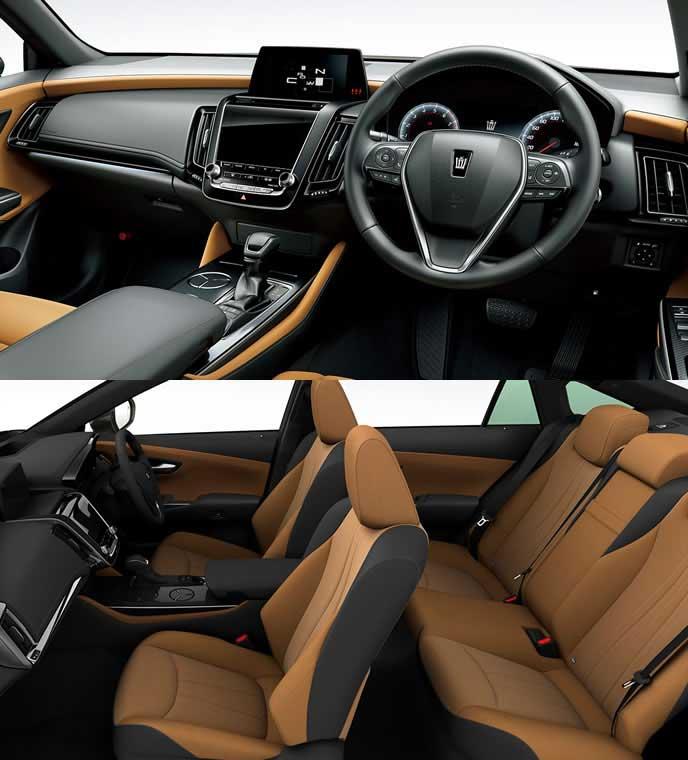 ブランノーブ+合成皮革のこがね内装のトヨタ新型クラウン