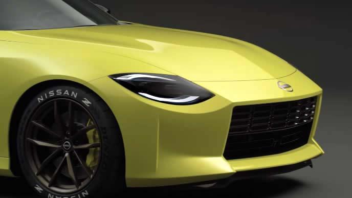 新型フェアレディZプロトタイプのヘッドライト
