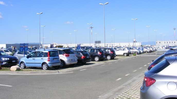 青空駐車する