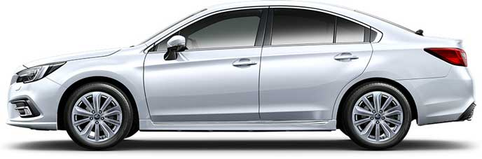 クリスタルホワイト・パールの新型レガシィB4