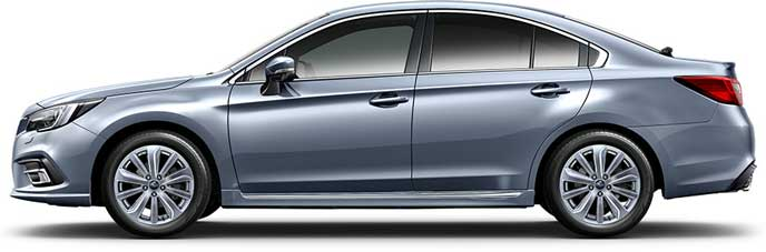アイスシルバー・メタリックの新型レガシィB4