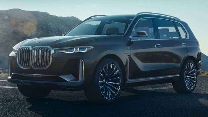 BMW X7の堂々としたエクステリア