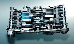 B型インプレッサの2.0L直噴エンジン
