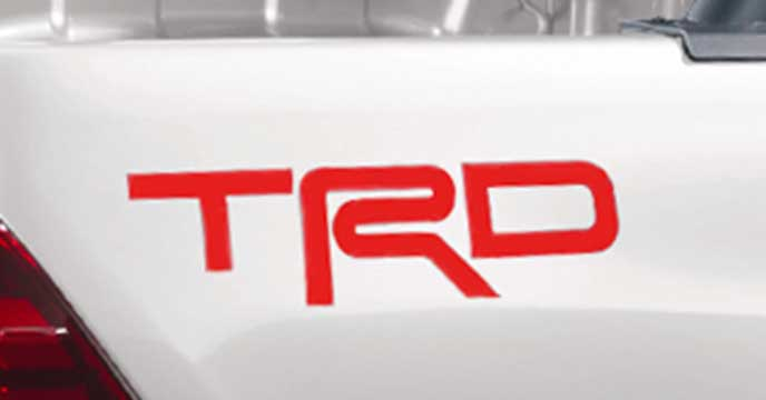 TRD PACKAGEのロゴデカール