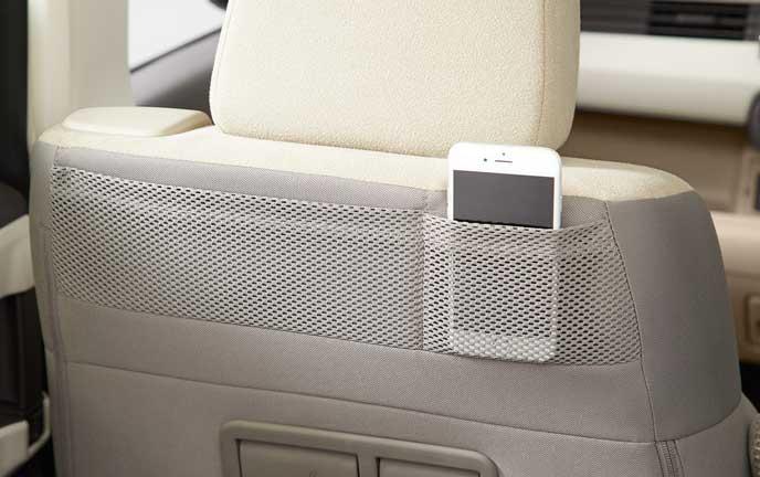 新型N-BOXのシートバックアッパーポケット