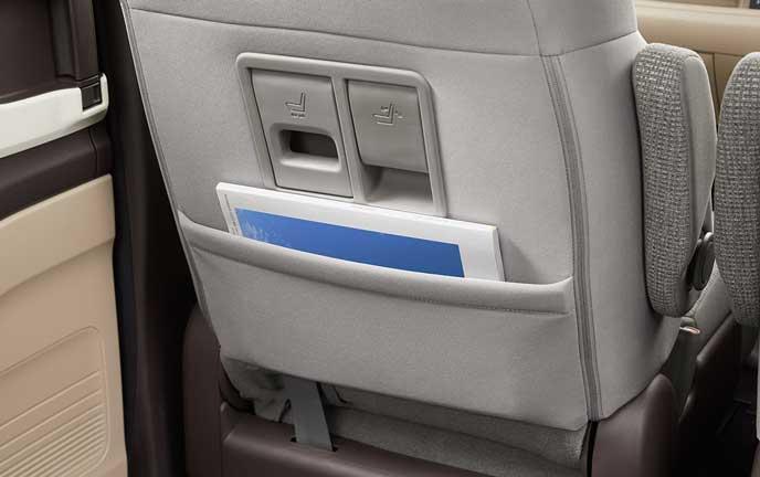 新型N-BOXのシートバックポケット