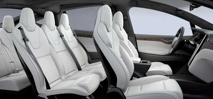 テスラ モデルXのホワイトシート
