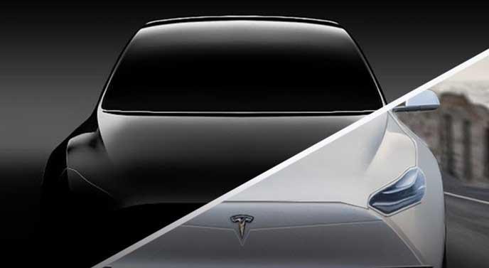 テスラ新型車のイメージ