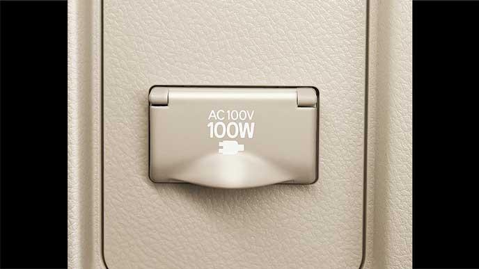 新型プラドの100Vアクセサリーソケット