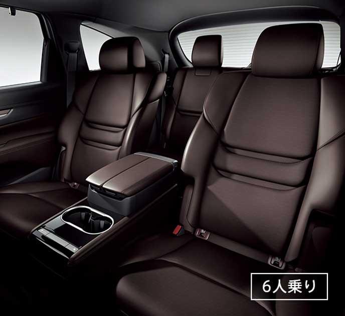 新型CX-8の大型アームレスト付キャプテンシート
