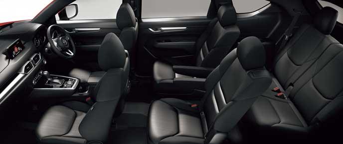 新型CX-8のスクエアクロスメッシュシート