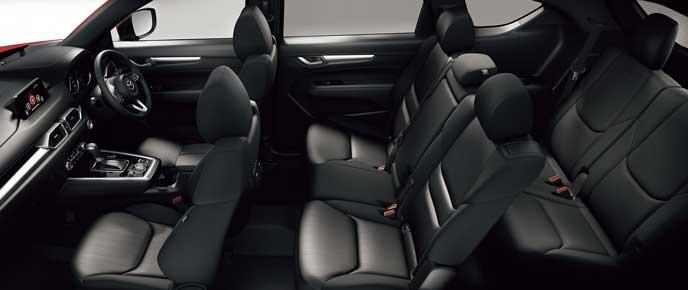 新型CX-8のスクエアクロスメッシュシート2