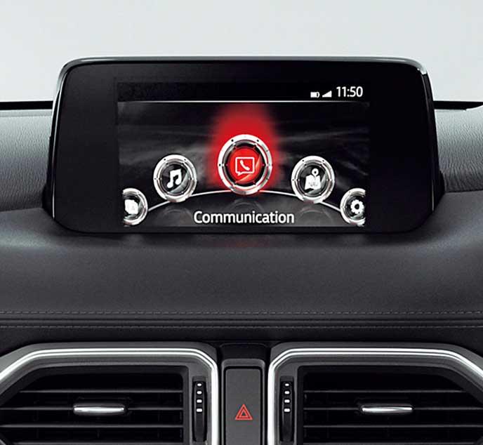 新型CX-8の7インチのセンターディスプレイ