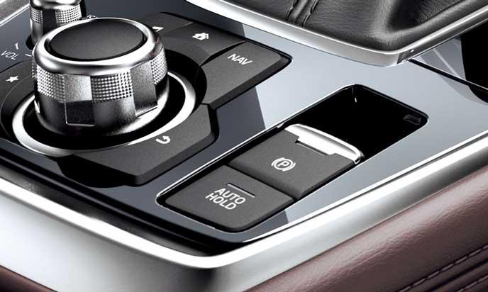 新型CX-8の電動パーキングブレーキ