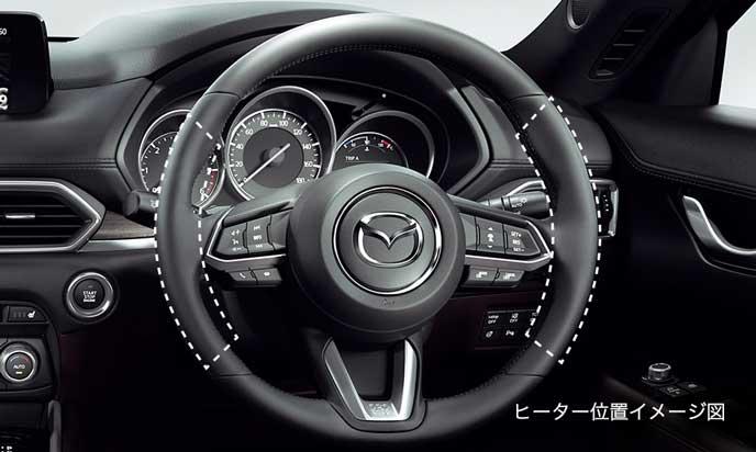 新型CX-8のステアリングヒーター