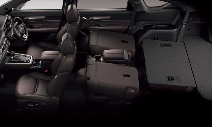 新型CX-8の2人乗車+ラゲッジモード
