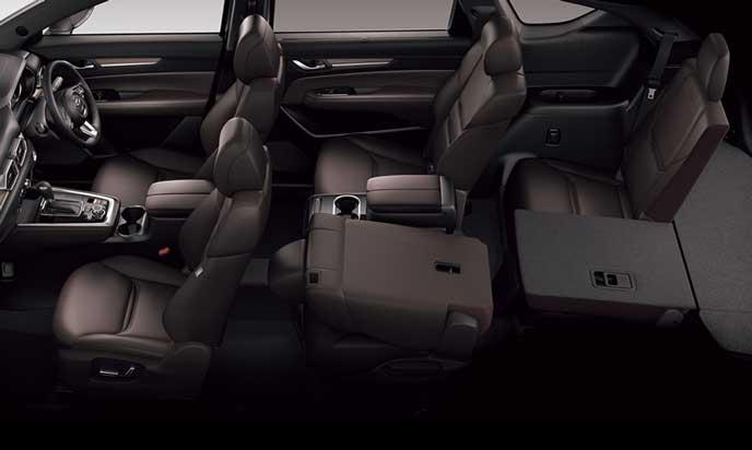 新型CX-8の4人乗車+ラゲッジモード