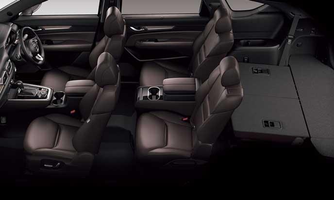 新型CX-8の4人乗車+ラゲッジモード2