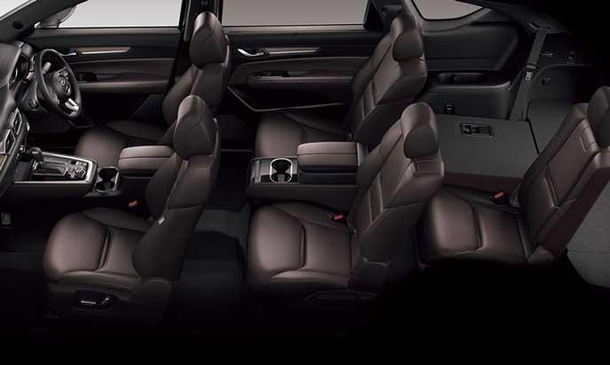 新型CX-8の5人乗車+ラゲッジモード