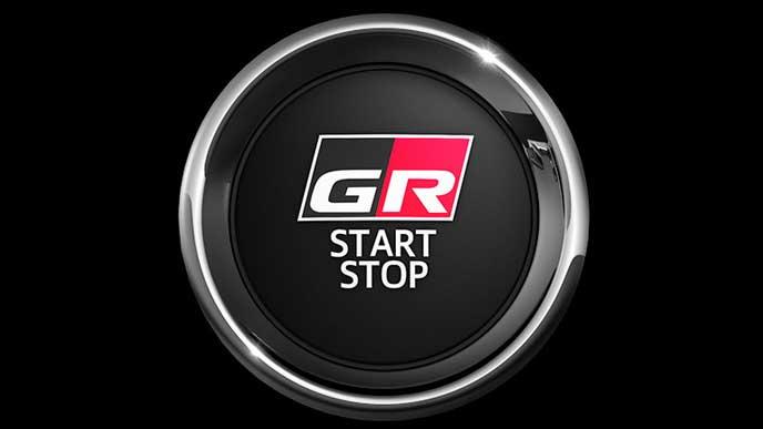 ハリアーGRスポーツのエンジン始動ボタン