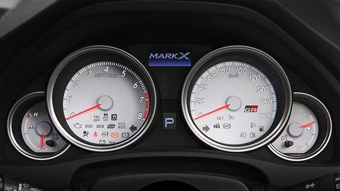 新型マークX GRスポーツのメーター