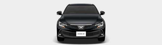 ブラックの新型マークX