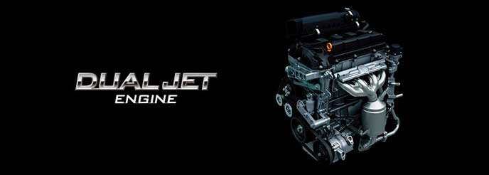 新型クロスビーに搭載されるデュアルジェットエンジン