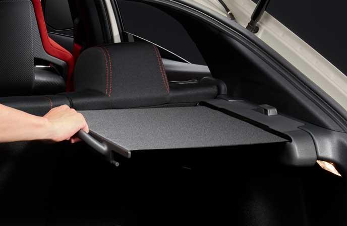 新型シビック タイプRのカーゴエリアカバー