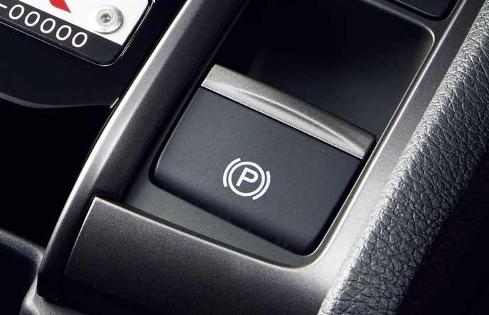 新型シビック タイプRの電動パーキングブレーキ