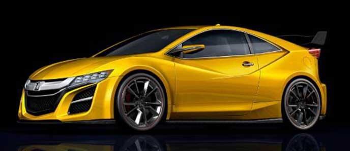 黄色い新型CR-Z