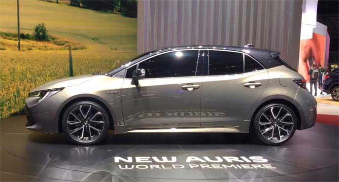 ジュネーブモーターショー2018で発表された新型オーリスのエクステリア