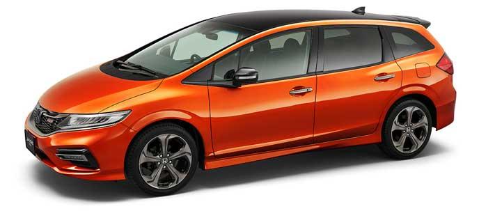 プレミアムクリスタルオレンジ・メタリックの新型ジェイド