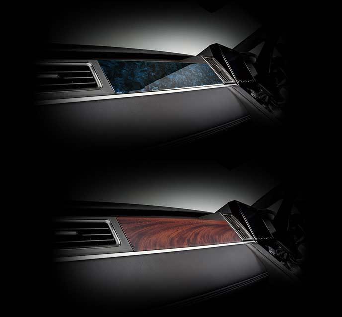 新型デリカD5のインパネパネル